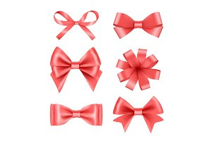 Bow with ribbons. Satin silk