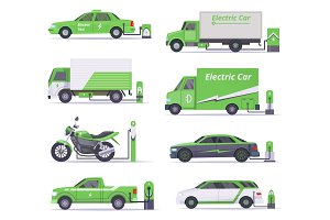 Eco cars. Save weather electricity