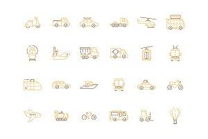 Urban transport icon. Public