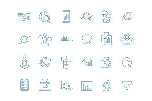 Data analysis symbols. Business
