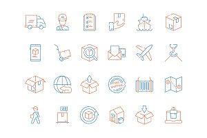 Delivery symbols. Shipping fast