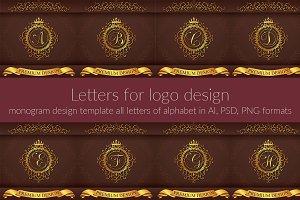 Vintage Capital Letters Monograms