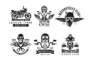 Biker labels. Vintage custom