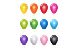 Colored balloon. Birthday party