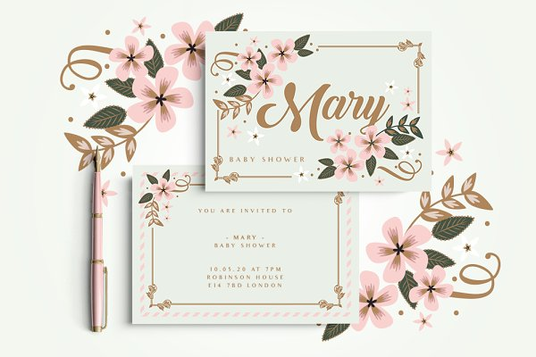 Card Templates: Werlang Paper - Monaco Invitation Set