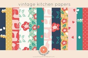 vintage kitchen digital papers