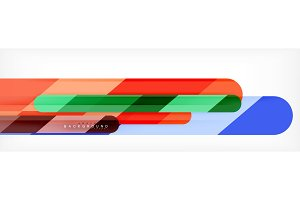 Abstract colorful lines, modern