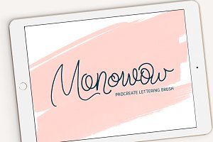 Monowow Procreate Lettering Brush
