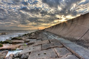 Galveston Seawall HDR