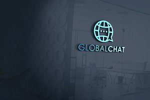 Global Chat Logo Template