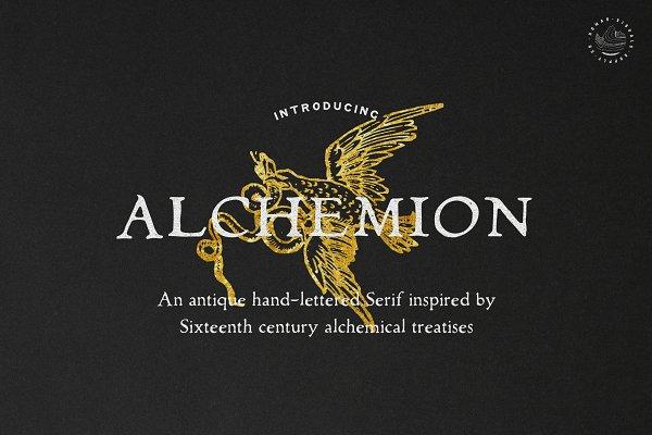 Display Fonts: Nomad Visuals - Alchemion - Display Serif Font