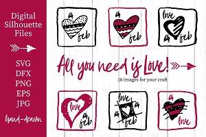 Lovely valentines day set - #3 SVG