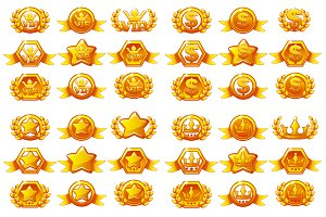 Templates for awards, creating icons