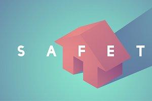 Illustration of house insurance