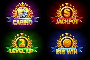 Casino, Jackpot, Big Win and level