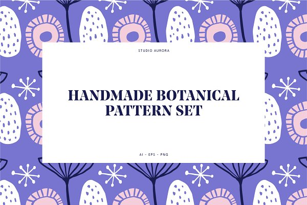 Graphic Patterns - Handmade Botanical Pattern Set