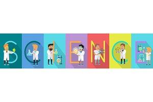 Science Conceptual Vector Banner