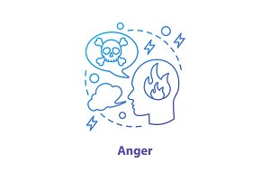 Anger concept icon