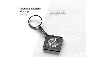 Rhombus Keychain Mockup