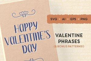 Valentine's Day SVG, printable cards