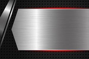 Metal texture background vector illu
