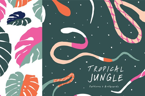 Graphic Patterns - Tropic Jungle | Patterns and More