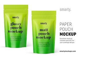 Paper pouch mockup
