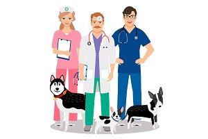 Dogs veterinary illustration