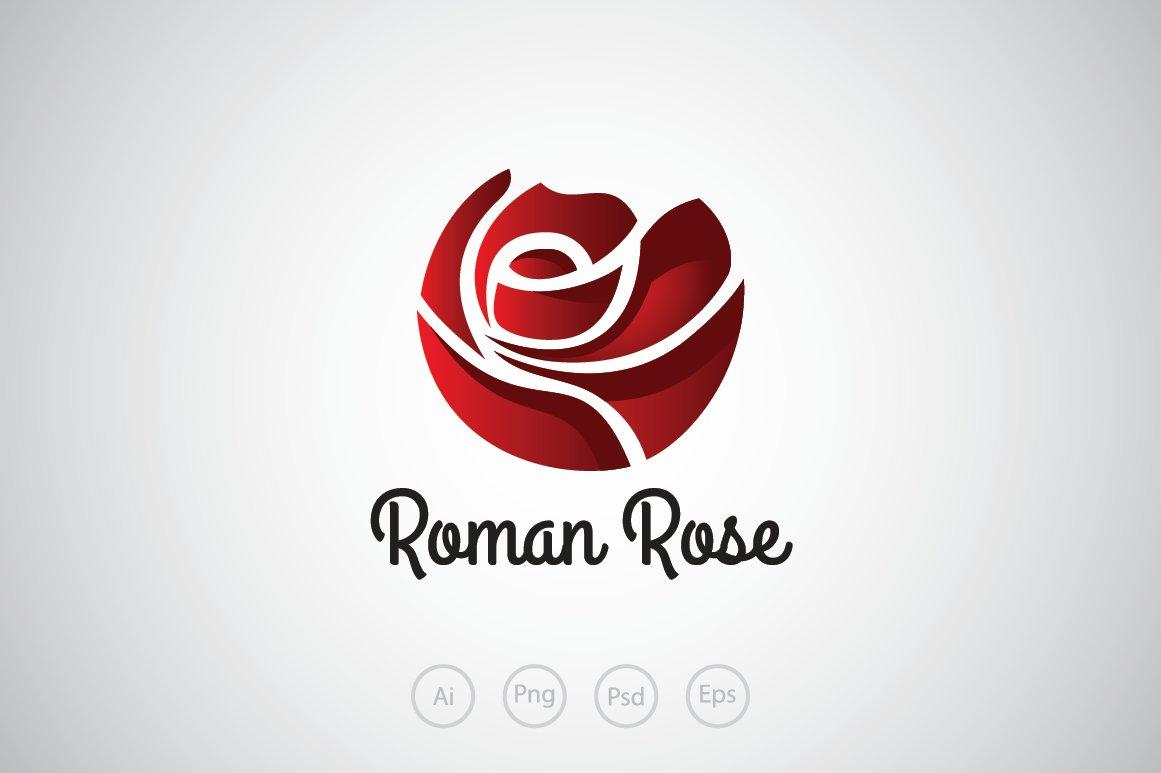 52fb1e4cf94af Romance Rose Logo Template ~ Logo Templates ~ Creative Market