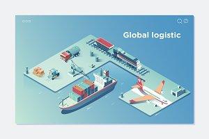 Global Logistic Isometric Vehicle