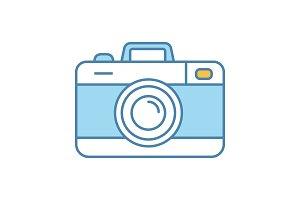 Photo camera color icon