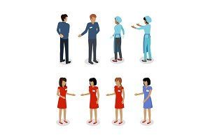 Set of Sellers Characters Vector