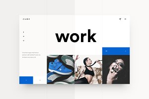 Cube — Photography Landing Page