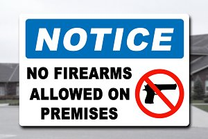 Notice No Firearms Sign Decal