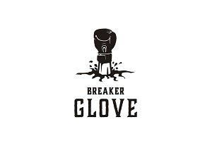 Boxer Glove illustration logo design