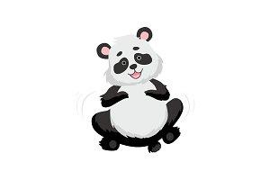 Cute Happy Baby Panda Bear, Smiling