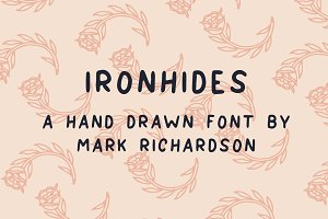 IRONHIDES - Hand Drawn Font