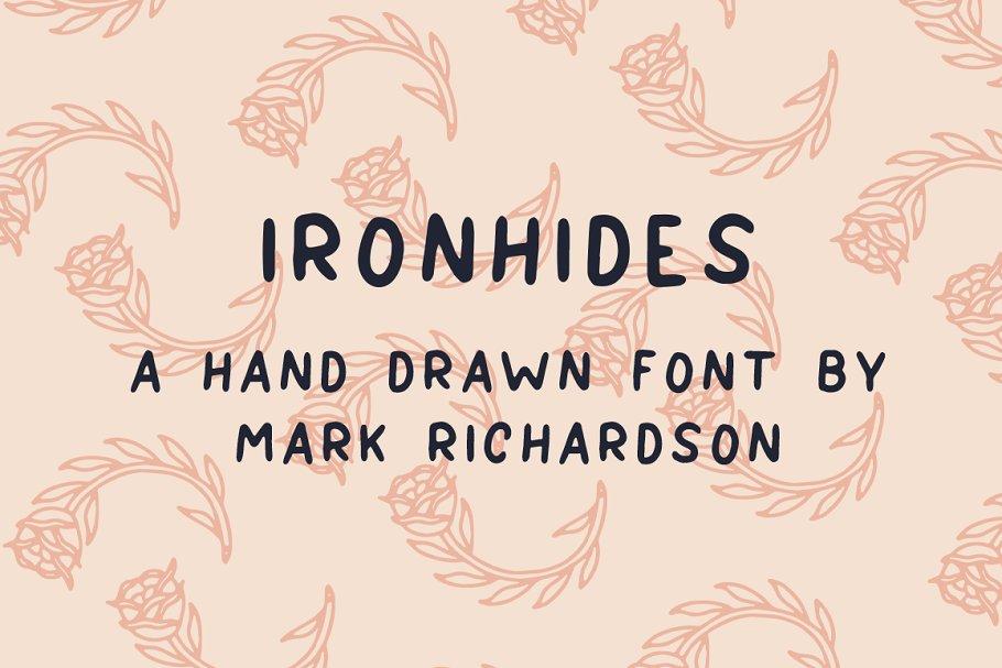 IRONHIDES - Hand Drawn Font