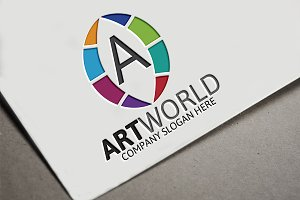 Art World / Letter A Logo