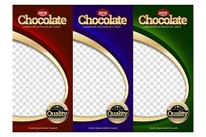 Packaging set Chocolate bar