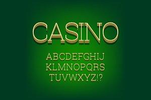 3d font alphabet. thin serif font