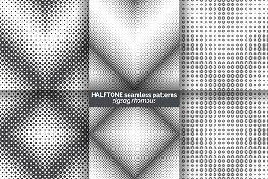 Halftone seamless patterns
