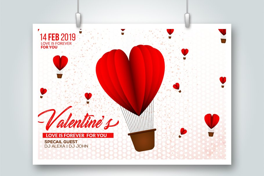 Valentine's Day Love Flyer Templates