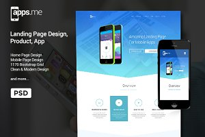 Appsme - Landing Page PSD Template