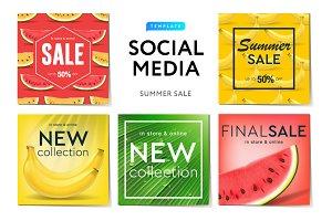 Instagram templates Summer Sale
