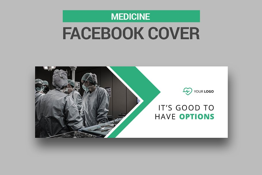 6 Medicine Facebook Covers in Facebook Templates - product preview 4