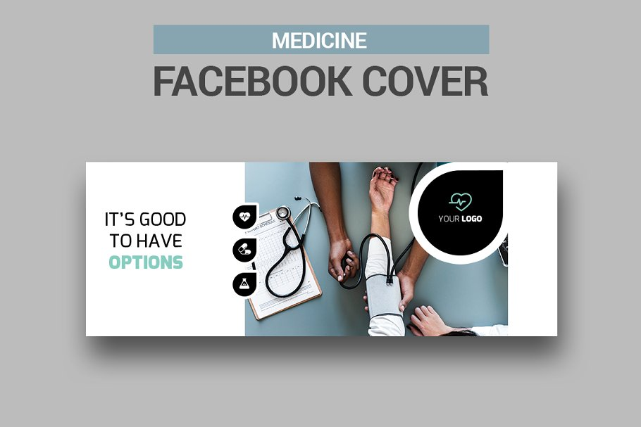 6 Medicine Facebook Covers in Facebook Templates - product preview 5