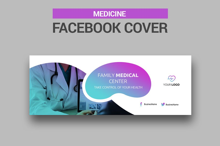 Medicine Facebook Covers in Facebook Templates - product preview 6