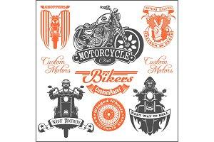 Set of Vintage motorcycle t-shirt