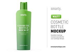 Matt hygiene bottle mockup